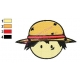 Luffy Face One Piece Embroidery Design
