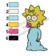 Maggie Simpsons Embroidery Design 04