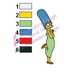 Marge Simpson Simpsons Embroidery