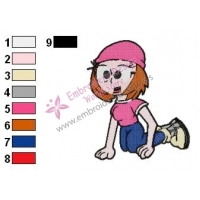 Meg Griffin Family Guy Embroidery Design 05