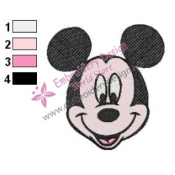 Mickey Mouse Cartoon Embroidery 14