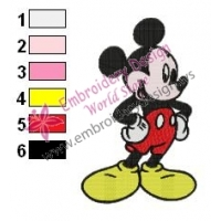 Mickey Mouse Cartoon Embroidery 20