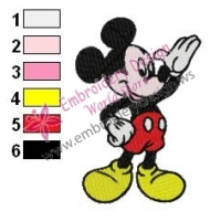 Mickey Mouse Cartoon Embroidery 30