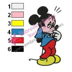 Mickey Mouse Cartoon Embroidery 33
