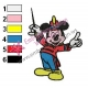 Mickey Mouse Cartoon Embroidery 38