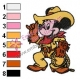 Mickey Mouse Cartoon Embroidery 50