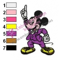 Mickey Mouse Cartoon Embroidery 51