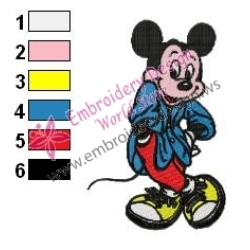 Mickey Mouse Cartoon Embroidery 55