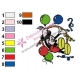 Mickey Mouse Cartoon Embroidery 70
