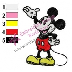 Mickey Mouse Cartoon Embroidery 8