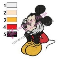 Mickey Mouse Cartoon Embroidery 80