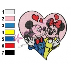 Mickey Mouse Cartoon Embroidery 90
