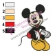 Mickey Mouse Cartoon Embroidery 99
