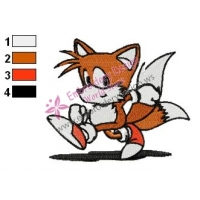 Miles Tails Sonic Embroidery Design 05
