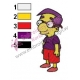Milhouse Van Houten Simpson Embroidery Design