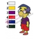 Milhouse Van Houten Simpsons Embroidery