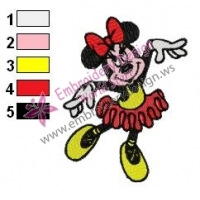 Minnie Mouse Cartoon Embroidery 12