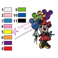 Minnie Mouse Cartoon Embroidery 16