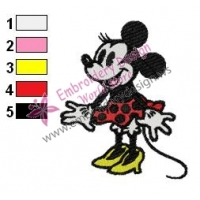 Minnie Mouse Cartoon Embroidery 19