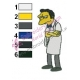 Moe Szyslak Simpsons Embroidery