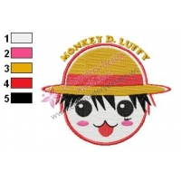 Monkey Luffy One Piece Embroidery Design