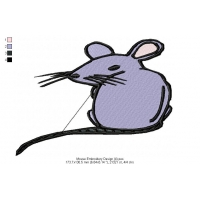 Mouse Embroidery Design 4