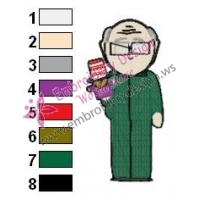 Mr Garrisson South Park Embroidery Design
