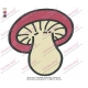 Mushrooms Vegetable Embroidery Design