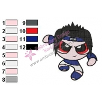 Naruto Sasuke Embroidery Design