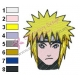 Naruto Shippuuden Face Embroidery Design 02