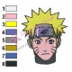 Naruto Shippuuden Face Embroidery Design 03