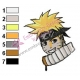 Naruto Shippuuden Face Embroidery Design