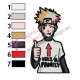 Naruto Uzumaki Embroidery Design 03
