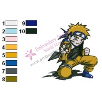Naruto Uzumaki Embroidery Design 05