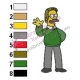 Ned Flanders Simpson Embroidery Design