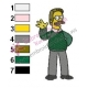 Ned Flanders Simpsons Embroidery