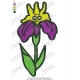 Nice Colored Flower Embroidery Design