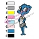 Nicole Amazing World of Gumball Embroidery Design 02