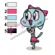 Nicole Amazing World of Gumball Embroidery Design