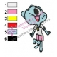 Nicole The Amazing World of Gumball Embroidery Design 04