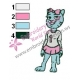 Nicole The Amazing World of Gumball Embroidery Design 05