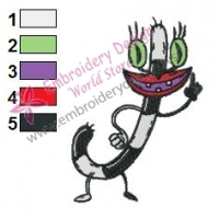 Oblina Real Monsters Embroidery Design