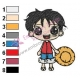 One Piece Baby Luffy Embroidery Design