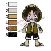 One Piece Luffy Embroidery Design 03
