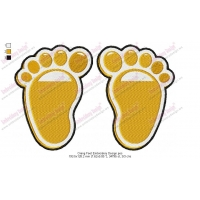 Orang Feet Embroidery Design