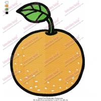 Orang Fruit Embroidery Design