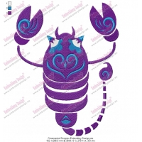 Ornamented Scorpion Embroidery Design