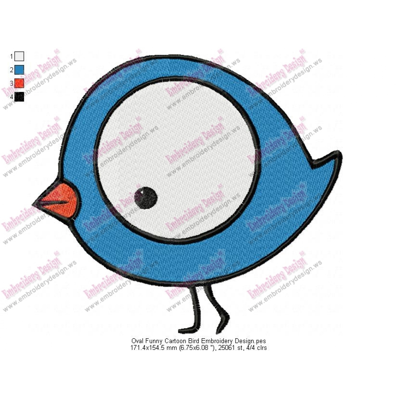 birds cartoon embroidery