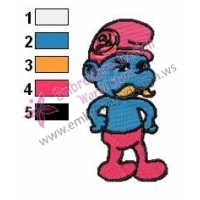Papa Smurfs Embroidery Design 06