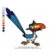 Parrot Bird Embroidery Design 2